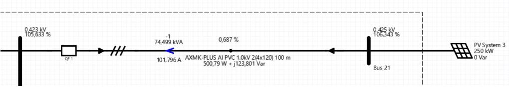 Voltage level solar power plant